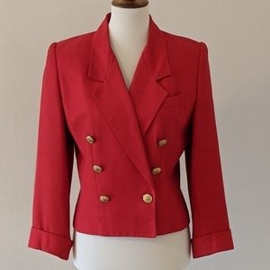 VTG Albert Nipon Red Double Breasted Suit Jacket